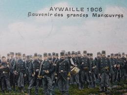 BELGIQUE BELGIE Cap Postcard - AYWAILLE 1906 - Souvenir Des Grandes Manoeuvres - Militaire - Armée #3/4 - Aywaille
