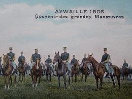 BELGIQUE BELGIE Cap Postcard - AYWAILLE 1906 - Souvenir Des Grandes Manoeuvres - Militaire - Armée #4/4 - Aywaille