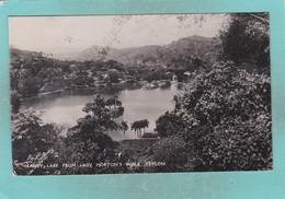 Small Old Post Card Of Kandy Lake,Kandy, Sri Lanka,(Ceylon),V70. - Sri Lanka (Ceylon)