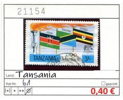 Tansania - Tanzania - Michel 61 - Oo Oblit. Used Gebruikt - Gem. Scan - As Per Scan - Tansania (1964-...)