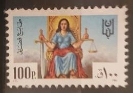 NO11 - Lebanon 1981 Justice Revenue Stamp 100p MNH - Lebanon