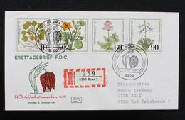 FDC Bund, BRD, Mi.-Nr. 1108-1111, Ersttagsbrief Wohlfahrtsmarken 1981 - Gefährdete Moor-, Sumpfwiesen- Und Wasserpflanze - FDC: Brieven