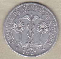 Algérie, Chambre De Commerce D'Alger ,10 Centimes 1921 , Aluminium - Algeria