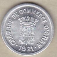 Algérie, Chambre De Commerce D'Oran , 5 Centimes 1921 , Aluminium. SUP/XF ++ - Algérie
