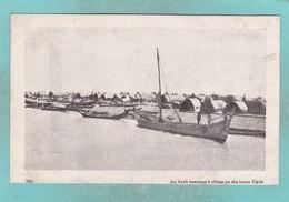 Small Old Post Card Of Arab Boatmens Village, River Tigris,Asia,V70. - Postcards