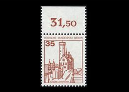 Berlin 1982, Michel-Nr. 673 A, Freimarken: Burgen Und Schlösser, 35 Pf., Bogenrand Oben, Postfrisch - Ungebraucht