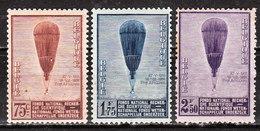 353/55*  Ballon Piccard - Série Complète - MH* - Rousseurs - LOOK!!!! - Belgium
