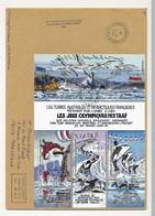 """T.A.A.F - Enveloppe Dumont Durville Terre Adélie 1/1/2002 - Bloc """"Les Jeux Olympiques Des TAAF"""" - Terres Australes Et Antarctiques Françaises (TAAF)"""
