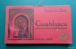 Maroc  -- Carnet De 19 Cartes Sur 20  - Souvenir De CASABLANCA - Casablanca
