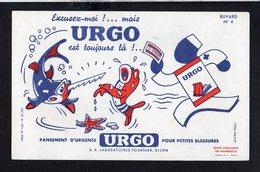Buvard Publicitaire Pharmaceutique / Pansement URGO N° 4 ( Pli Vertical Central ) - Drogheria