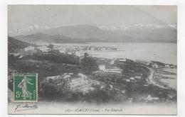 (RECTO / VERSO) AJACCIO EN 1916 - N° 387 - VUE GENERALE - LEGER PLI ANGLE HAUT A DROITE - CPA VOYAGEE - Ajaccio