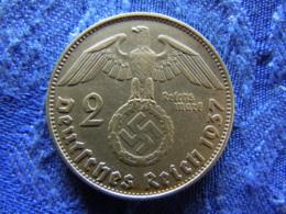 GERMANY 2 MARK 1937A, KM93 Rubbed - [ 4] 1933-1945 : Troisième Reich