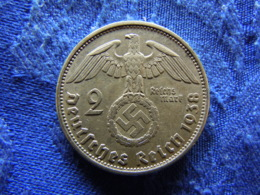 GERMANY 2 MARK 1938A, KM93 - [ 4] 1933-1945 : Troisième Reich
