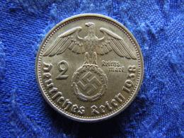 GERMANY 2 MARK 1938B, KM93 - [ 4] 1933-1945 : Troisième Reich