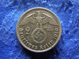 GERMANY 2 MARK 1939B, KM93 - [ 4] 1933-1945 : Troisième Reich
