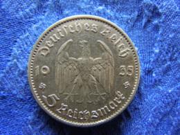 GERMANY 5 MARK 1935A, KM83 - [ 4] 1933-1945 : Troisième Reich