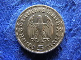 GERMANY 5 MARK 1936A, KM86 Rubbed - [ 4] 1933-1945 : Troisième Reich