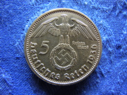 GERMANY 5 MARK 1936A, KM94 Rubbed - [ 4] 1933-1945 : Troisième Reich