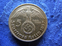 GERMANY 5 MARK 1937A, KM94 - [ 4] 1933-1945 : Troisième Reich