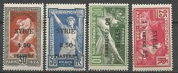 SYRIE  N° 122 à 125 NEUF** SANS CHARNIERE   / MNH - Syria (1919-1945)