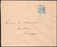 Lettre Affranchie Avec Un Préoblitéré Envoyée De Bruxelles Vers Jemappes En 1906 - Precancels