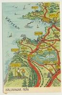 AK  Map Hälsningar Fran - Cartes Géographiques