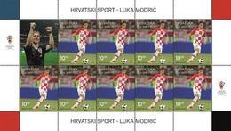 MAKMARKA CROATIA 2019.03.25 M1368-1SHEET CROATIAN SPORT FOOTBALL LUKA MODRIĆ 2018 FIFA WORLD CUP RUSSIA™ 1 SHEET (D-21) - Croacia