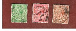 GRAN BRETAGNA (UNITED KINGDOM) -  SG 418.420  - 1912 KING GEORGE V     - USED° - Usati