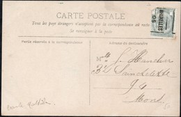 Carte Illustrée  Affranchie Avec Un Préoblitéré Envoyée De Bruxelles Vers Mons En 1906 - Precancels