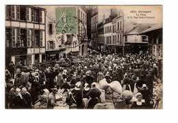 29 Quimper La Place Et La Rue Saint François Marché Marchands Cpa Carte Animée - Quimper