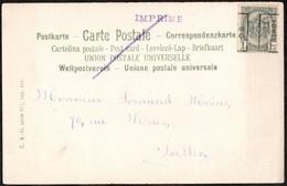 Carte Illustrée  Affranchie Avec Un Préoblitéré Envoyée De Bruxelles (Nord) Vers Ixelles En 1906 - Precancels