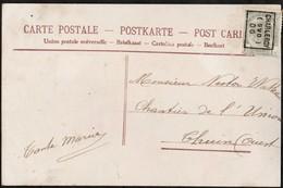 Carte Illustrée  Affranchie Avec Un Préoblitéré Envoyée De Charleroi (Sud) Vers Thuin En 1906 - Precancels