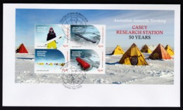 Australian Antarctic 2019 Casey Research Station 50 Years Minisheet FDC - FDC