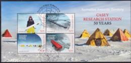 Australian Antarctic 2019 Casey Research Station 50 Years Minisheet Used - Australian Antarctic Territory (AAT)