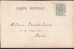 Carte Illustrée  Affranchie Avec Un Préoblitéré Envoyée De Gand Vers Battice En 1906 - Precancels