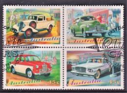 Australia 1997 Classic Cars Block Of 4 Used - 1990-99 Elizabeth II