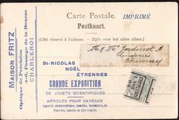 Carte Illustrée  Affranchie Avec Un Préoblitéré Envoyée De Charleroi (Sud) Vers Chimay En 1909 - Precancels