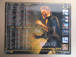 Almanach Du Facteur 2019 / Calendrier La Poste /  Johnny Hallyday - Grand Format : 2001-...