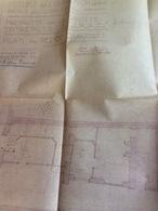 7 Plans D'architecte (74x63 Cm-63x50 Cm-35x45 Cm (3) & 100x60 Cm (2) & 1 Plan De Géomètre (70x50 Cm). Immeuble Rue Des C - Architecture