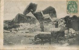 Stone Quarry Near Castres France Horse Cart Attelage De Cheval. Casseurs De Pierre Envoi De Brassac Tarn - Mines