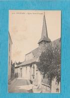 Orléans. - Église Saint-Vincent. - Carte Pub Menu Restaurant 1908. - Confréries De Saint-Fiacre & Du Saint-Sacrement. - Orleans