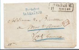 NDP148 / Norddeutscher Postbezirk - Dresden 1871, Kriegsgefangenenpost, Portofreo N. Frankreich - North German Conf.