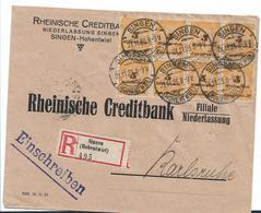 Inf341/ INFLA - Creditbank 21.11.23, Einschreiben Mit 8-er Einheit. Mi.Nr. 327A - Briefe U. Dokumente