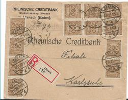 Inf344/ INFLA - Lörrach, Einschreiben 8.11.23 Mit Mi.Nr. 323A (12 Stück) - Briefe U. Dokumente