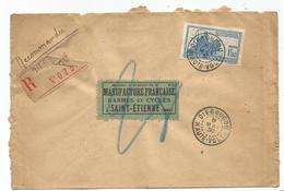 HAUTE VOLTA 1FR50 SEUL  LETTRE REC DIEBOUGOU 8 MAI 1930  POUR LA LOIRE - Upper Volta (1920-1932)