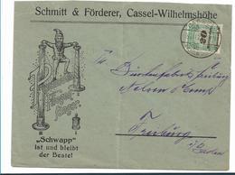 Inf345/ INFLA - Firmenbrief Mit Werbung, Kassel  30.11.23 (4-fach Aufgewertet) - Briefe U. Dokumente