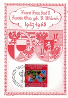 SILBERHOCHZEIT Von Fürst Franz Josef II Und Fürstin Gina, Ersttag 29.8.1968 - Maximumkarten (MC)
