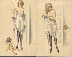 Bertiglia Illustrateur  Femmes Et Cupidon  N°4 Et 5 - Bertiglia, A.