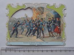 CHROMO DECOUPIS Chocolat PAYRAUD Grand Format: Bataille De SEDAN (1870) BAZEILLES - MILITAIRE - GERMAIN Illustrateur - Découpis