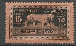 SYRIE TAXE N° 38  NEUF* TRACE DE CHARNIERE TB  / MH - Portomarken